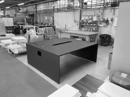 Fully assembled bespoke desk